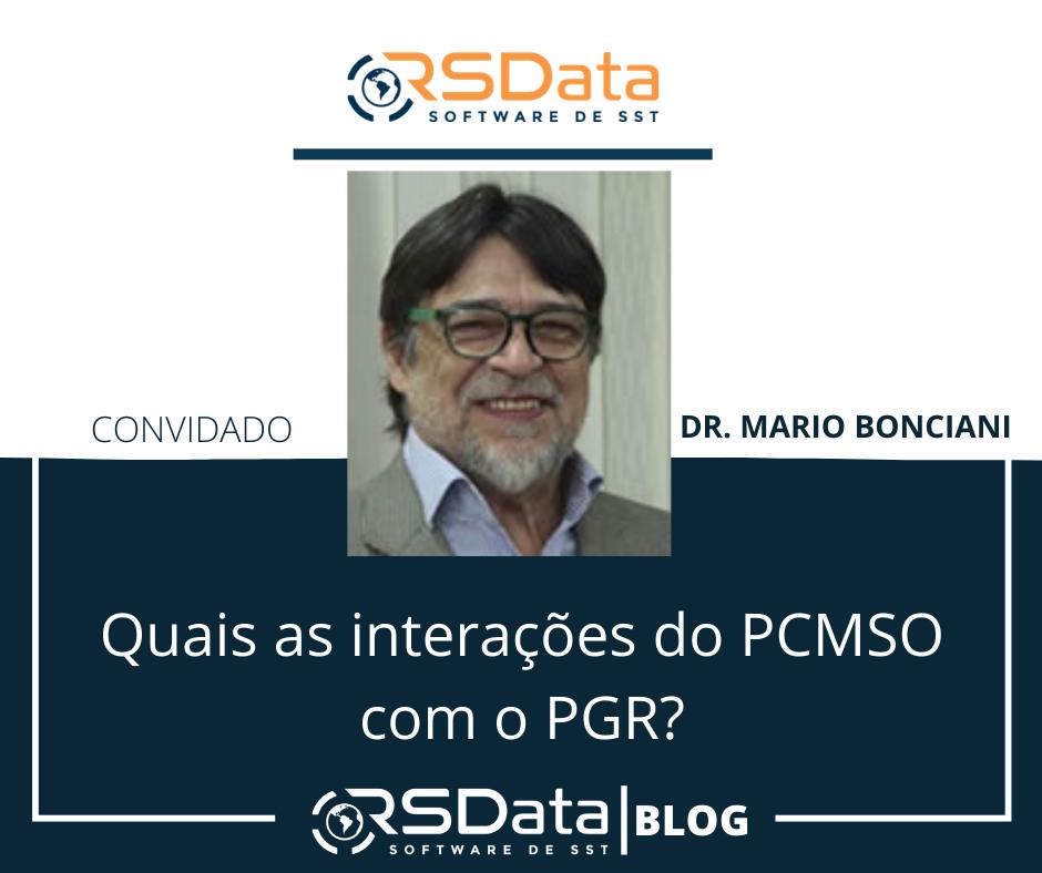 Quais as interações do PCMSO com o PGR?