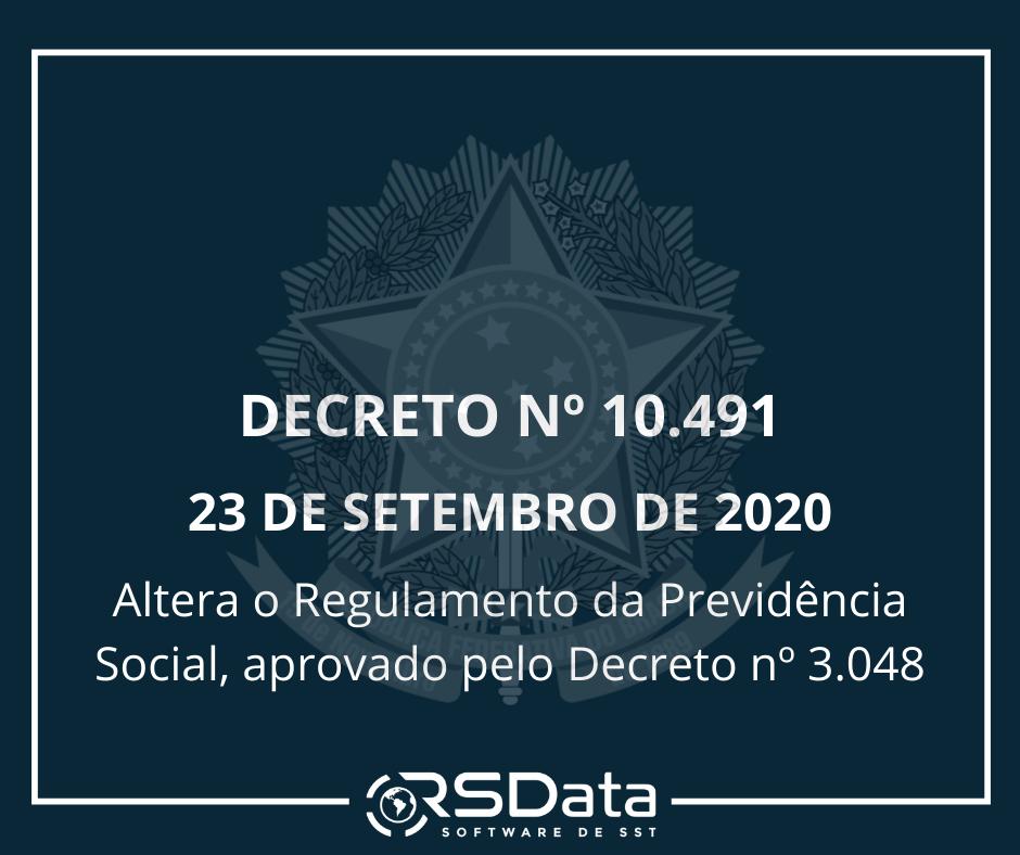 DECRETO Nº 10.491, DE 23 DE SETEMBRO DE 2020